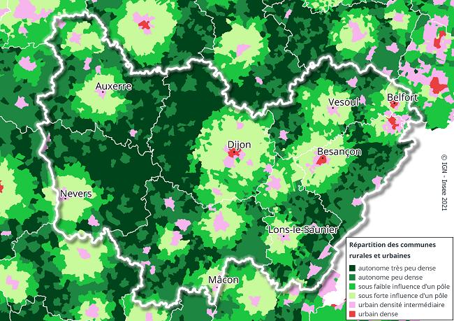 Bourgogne Franche Comté : Première région rurale de France