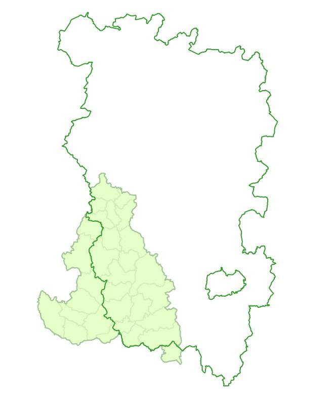 Périmètres du contrat territorial Aron Morvan dans le Parc naturel régional du Morvan