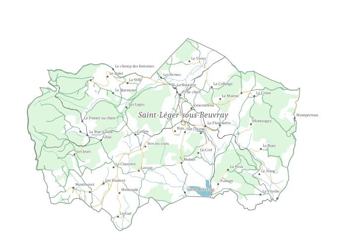 Chemins ruraux Grand Site de France Bibracte - Mont Beuvray