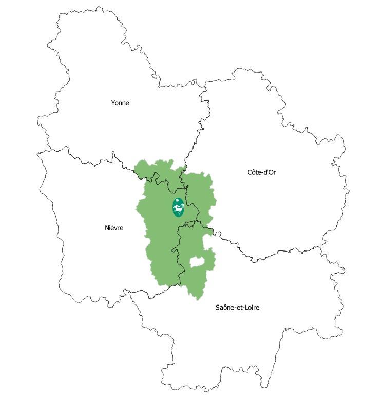 Départements du Parc naturel régional du Morvan