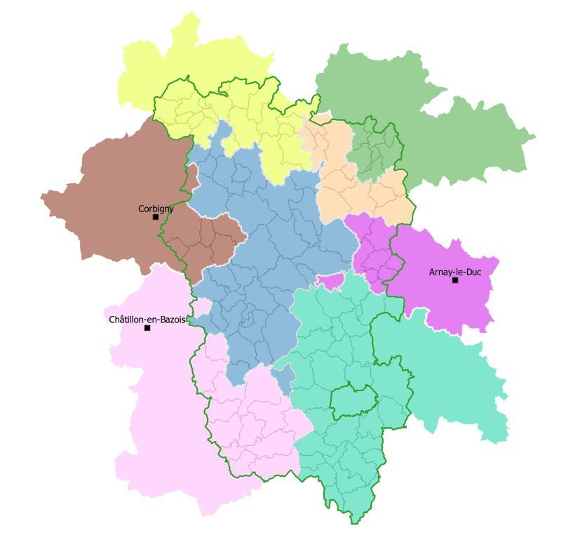 Communautés de Communes du Parc naturel régional du Morvan (périmètre intégral)