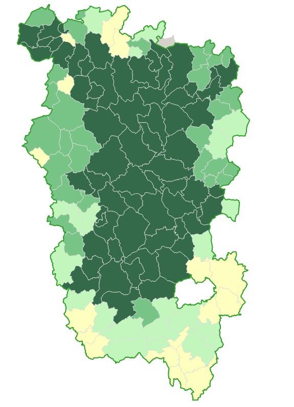 Communes du Parc naturel régional du Morvan