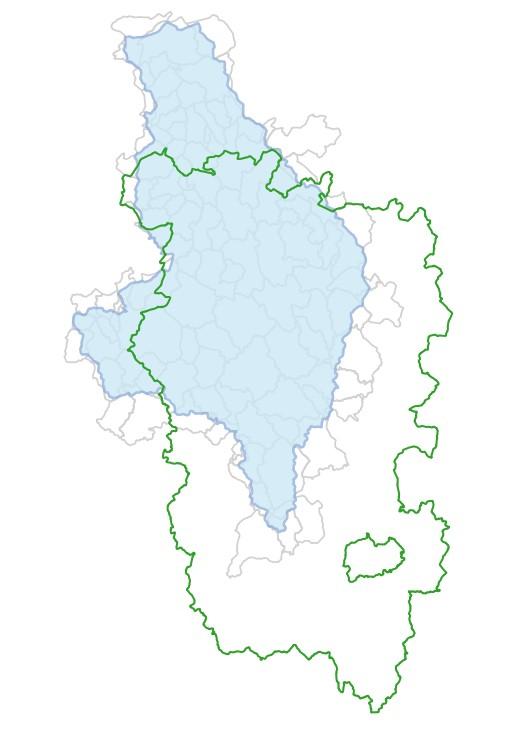 Périmètres GEMAPI du Parc naturel régional du Morvan sur le bassin versant Yonne amont-Cure-Cousin