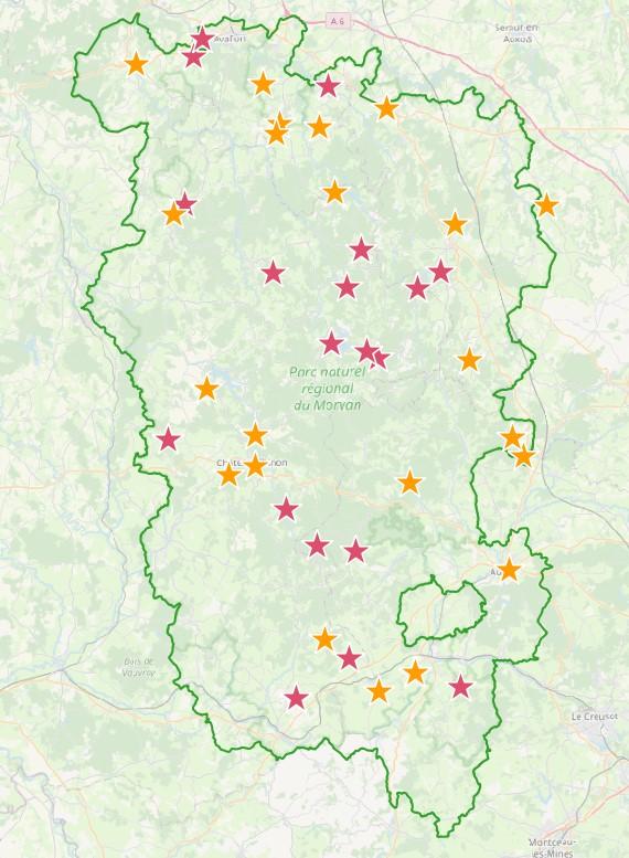 """Bénéficiaires de la marque """"Valeurs Parcs"""" dans le Parc naturel régional du Morvan"""