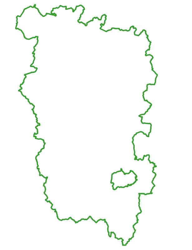 Périmètres du Parc naturel régional du Morvan