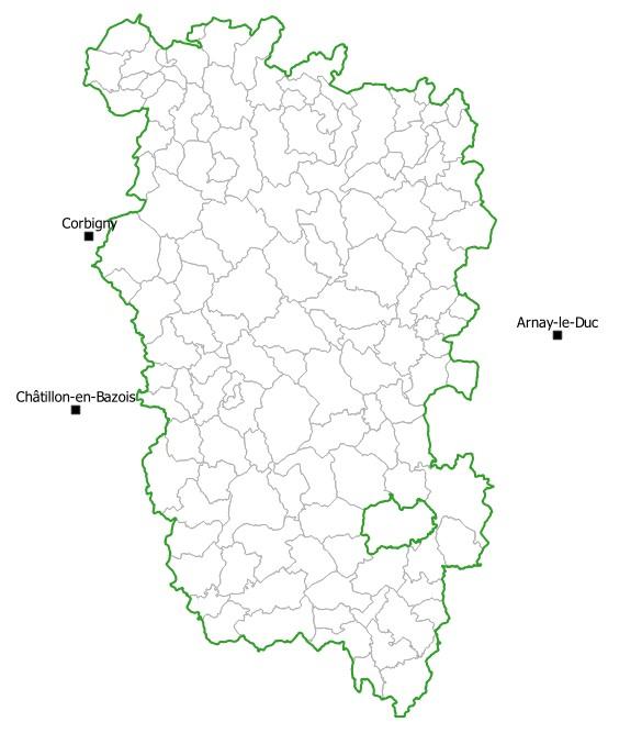 Communes partenaires du Parc naturel régional du Morvan