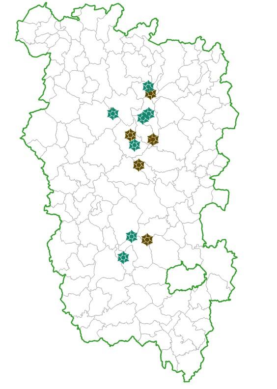 Sites de la Réserve Naturelle Régionale des Tourbières du Morvan