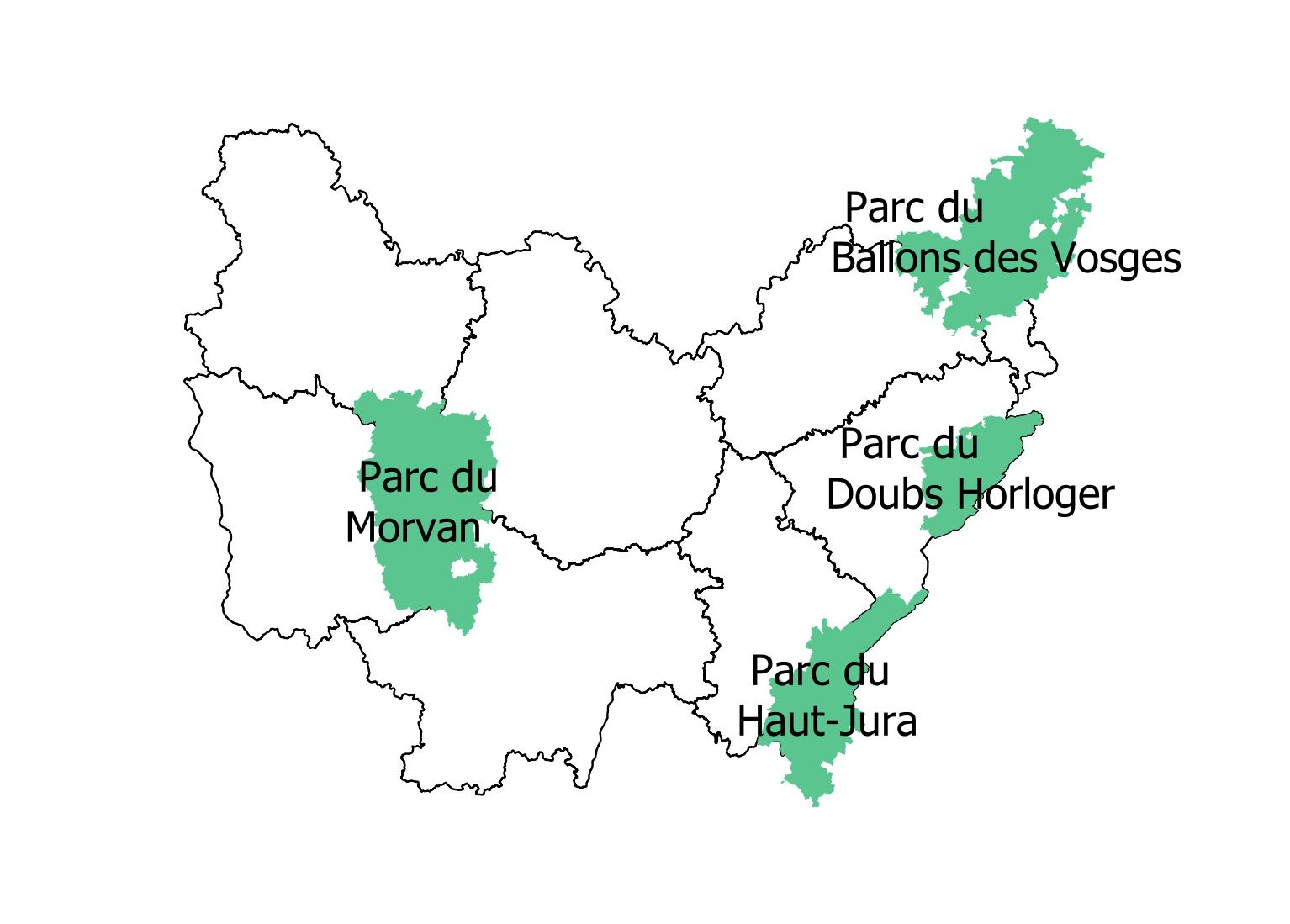 Parcs Naturels Régionaux (PNR) en Bourgogne-Franche-Comté