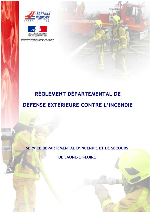 Réglement Départemental de Défense Extérieure Contre l'Incendie