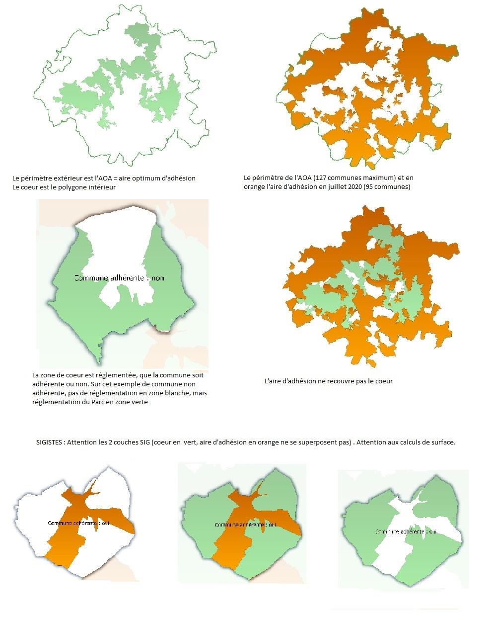 Périmètres détaillés du parc national de forêts