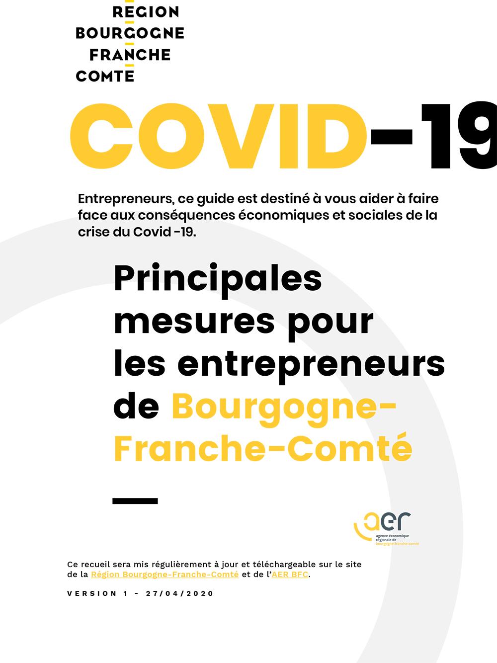 Covid-19 - Principales mesures pour les entrepreneurs de Bourgogne-Franche-Comté