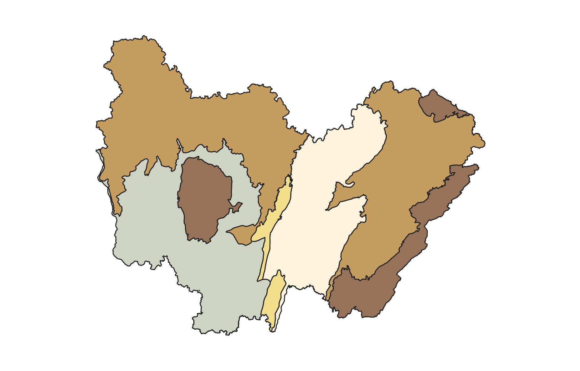 Typologie des reliefs de Bourgogne-Franche-Comté