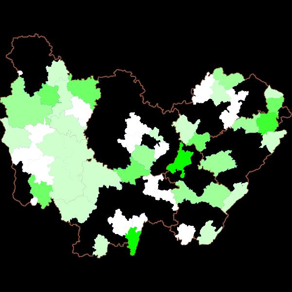Emissions de polluants atmosphériques tous secteurs d'activité confondus par EPCI de la région Bourgogne-Franche-Comté