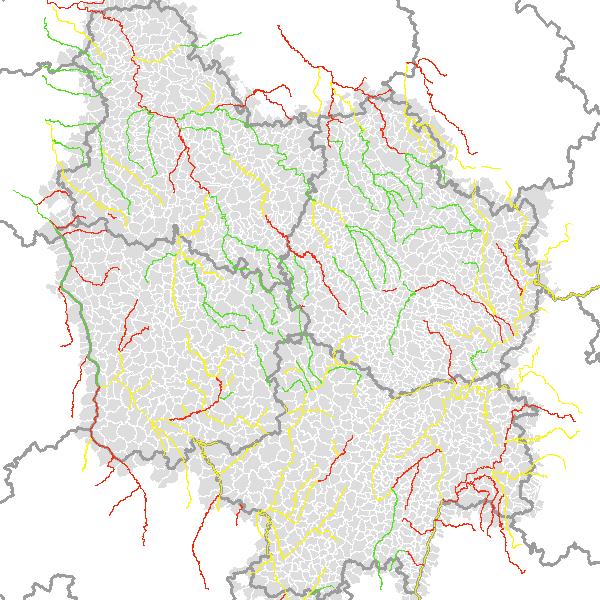 Risque de Non Atteinte du Bon Etat des masses d'eau superficielles en Bourgogne