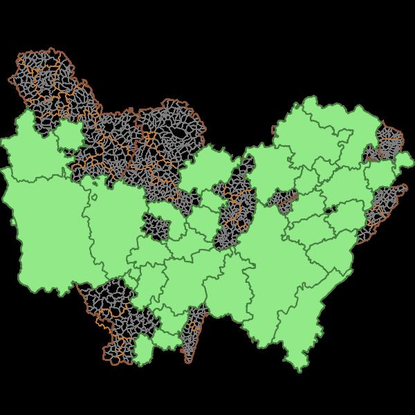 Périmètres des territoires lauréats TEPcv en région Bourgogne-Franche-Comté
