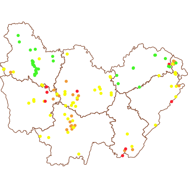 Localisation des barrages en Bourgogne-Franche-Comté