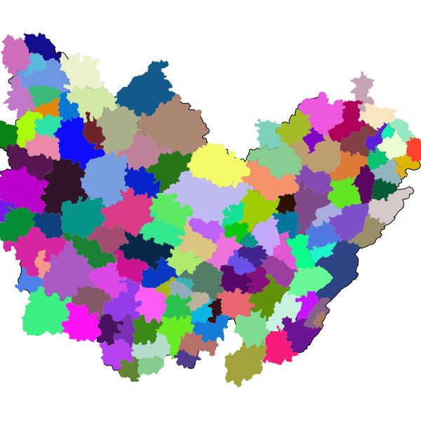 Bassins de Vie en Bourgogne-Franche-Comté (INSEE 2012)