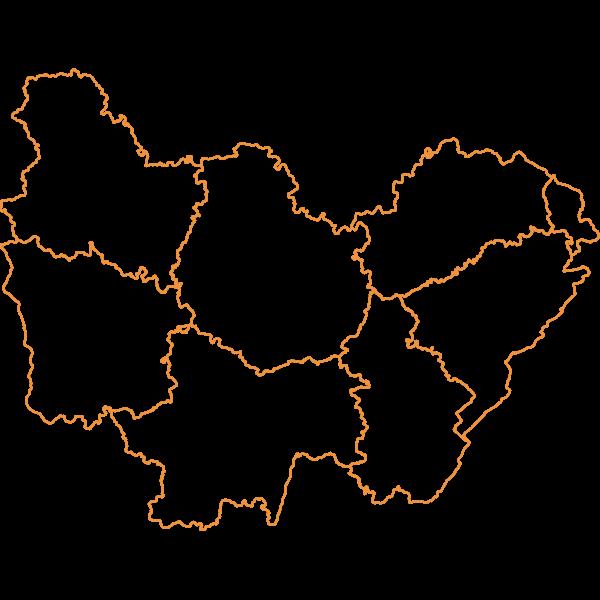 Départements de Bourgogne-Franche-Comté - BD Admin Express