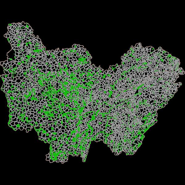 Zones Naturelles d'Intérêt Ecologique Faunistique et Floristique (ZNIEFF) de type 1 en Bourgogne-Franche-Comté
