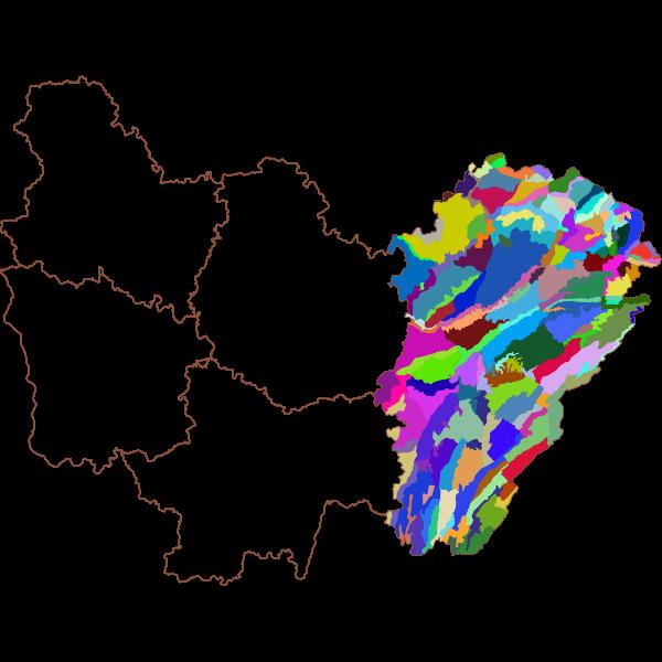 Atlas des paysages de Franche-Comté - Sous-unités paysagères
