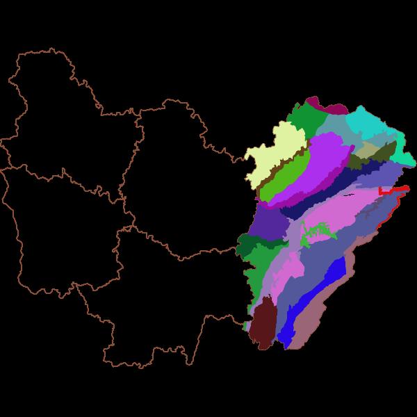 Atlas des paysages de Franche-Comté - Unités paysagères