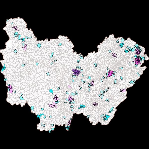 Unités Urbaines en Bourgogne-Franche-Comté (INSEE 2010)