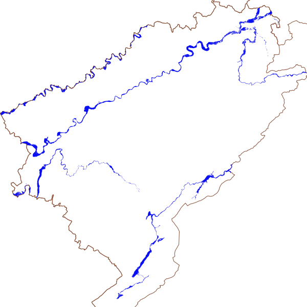 Zone réglementée du Plan de Prévention des Risques d'Inondation (PPRI) du département du Doubs