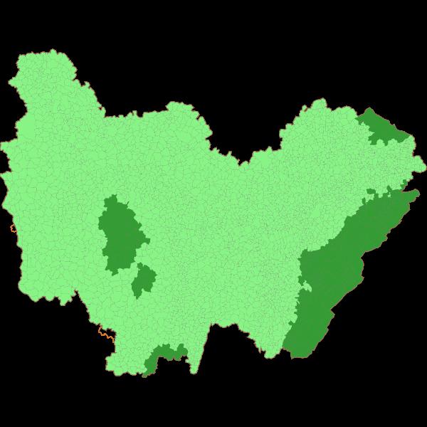 Communes classées en zone de montagne en Bourgogne-Franche-Comté